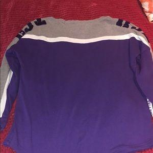 PINK Victoria's Secret Tops - Longsleeved purple and gray TCU shirt